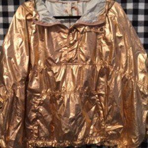 Free People Metallic Windjammer Jacket